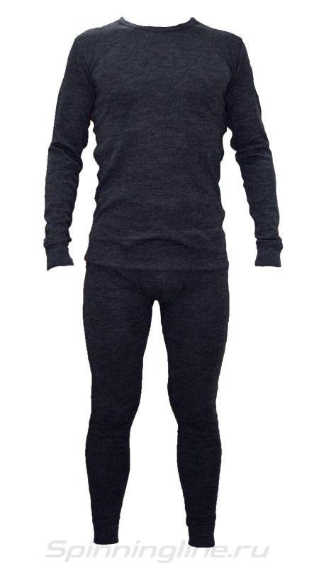"""Термобелье U202  Merino wool (комплект) серый, """"холодно - очень холодно, до -30°C"""", состав: внешний слой 100% шерсть мериноса, внутренний слой 100% полипропилен,размер XL."""
