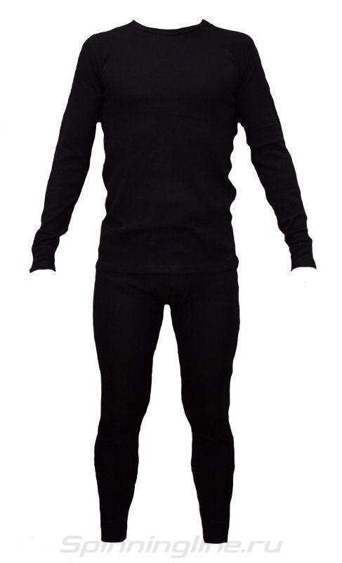 """Термобелье U202  Merino wool (комплект) черный, """"холодно - очень холодно, до -30°C"""", состав: внешний слой 100% шерсть мериноса, внутренний слой 100% полипропилен, размер XXXXL"""